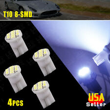 4x Cool White T10 8-SMD LED Car Light Wedge Bulbs Super Bright 194 2825 921 168