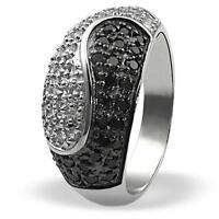 Goldmaid Ring Damenring Silberring 925er Sterlingsilber Zirkonia Black & White