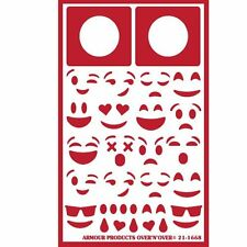 Armour Reusable Over n Over Glass Etching Stencil - ONO Emoji Faces
