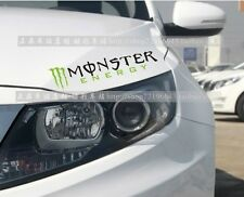 Amazing Monster Headlight Eyebrow Car Stickers Decals Graphic (Black ,Left)