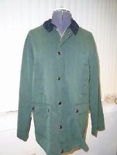 Urban Outfitters BDG Waxed Canvas Hunting Jacket Green Milleran Fabric Large