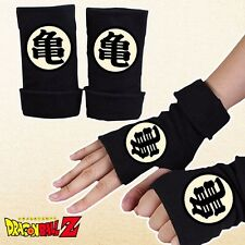 Anime DragonBall Z 亀 Roshi Logo Half Finger Glove Cotton Mitten Cosplay Gift New
