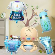 5Pcs Cute Baby Boy Shower Balls Helium Foil Balloons Birthday Party Decorations