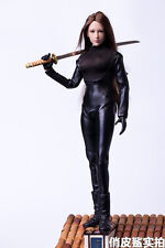 1/6 Female Killer Ninja Warrior Agents Black Leather Suits Fit Verycool Body