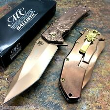 MASTER COLLECTION Copper Rose TI Blade Tactical Rescue Pocket Knife MC-A035PC