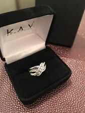 Kay Jewelers Sterling Silver Diamond ring New with tags