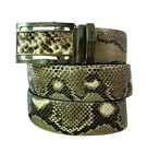 GENUINE PYTHON SNAKE SKIN LEATHER AUTOMATIC BUCKLE MENS BELT SIZE available