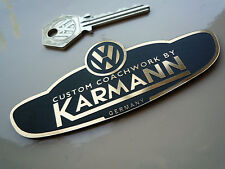 VW Custom Coachwork by KARMANN Self Adhesive Car Badge Golf Scirroco Camper Van