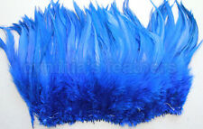 """100+ Royal Blue 5-7"""" saddle COQUE rooster hackle Feathers for craft, Cynthia's"""