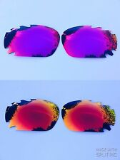 REPLACEMENT POLARIZED FIRE RED & PURPLE MIRROR VENTED OAKLEY JAWBONE LENSES