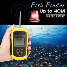 100M Wireless Fish Finder Ultrasonic Sonar Sensor 40mDepth Sounder Alarm Fishing
