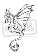 A7 'Dragon In Profile' Unmounted Rubber Stamp (SP002453)