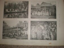 Printed photos some natives of Benin 1897 my ref L