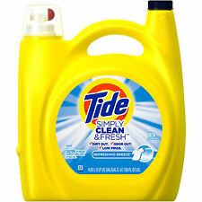 Tide Simply Clean & Fresh HE Liquid Laundry Detergent 89 loads, 138 oz Wash Soap