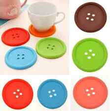 4pcs Cute Silicone Button Coaster Mug Cup Cushion Holder Drink Placemat Mat Pad