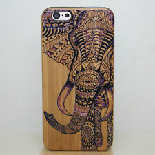 """Elephant-For iPhone 6 S 4.7"""" Real Genuine Real Wood Wooden Bamboo+PC Case Cover"""