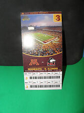NCAA- MINNESOTA GOLDEN GOPHERS VS. N. ILINOIS HUSKIES 9/25/2010 TICKET STUB