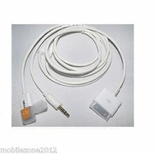 2-in-1 USB 3.5MM Aux Audio to Dock Charger Data Cable iPad iPod iPhone UZ12