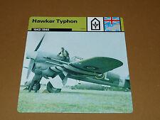 HAWKER TYPHON 1942-1945 RAF ENGLAND AVIATION FICHE WW2 39-45