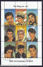 Elvis Presley 60th Anniv Unmounted Mint Stamp Sheet from S.Tome E Principe