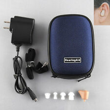 1x Rechargeable Digital In Ear Hearing Aid Adjustable Tone Sound Amplifier Gifts