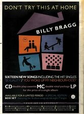"21/9/91 Pgn60 ADVERT 15X11"" BILLY BRAGG : DON'T TRY THIS AT HOME"