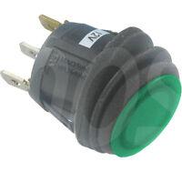 WIPPSCHALTER Ein-Aus  spritzwassergeschützt IP65 12 V 20 A max. 28 V grüne LED