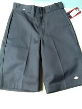 """NWT mens Dickies dark navy shorts flat front loose fit size 30 inseam 13"""""""