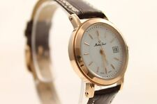 Schweizer Uhr, Damenuhr Mathey-Tissot City D31186PI, weiß/roségold, Lederarmband
