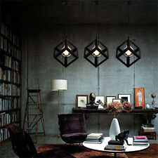 Square Retro Modern Metal Chandelier Ceiling Light Lamp Shade Pendant Geometric