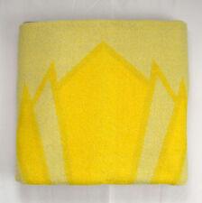 Vtg Depression Era O.R.R. Yellow Wool Knit Throw Car Rug Health Blanket 60 x 77