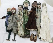 7 Very old punch and Judy french theater puppets - 19th century