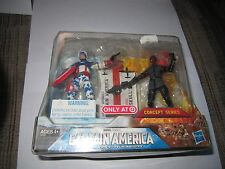 Marvel Universe Captain America Red Skull Target Ex Concept Two Pack New Sealed
