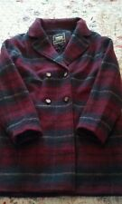 boohoo boyfriend lumberjack burgundy, yellow &  Blue check coat 12/14