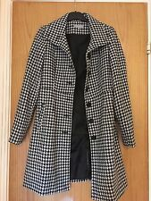 Dogtooth Mac Coat Trench Monochrome Black White S 8