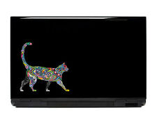 Ornate cat sticker decal laptop automotive netbook cats window stickers