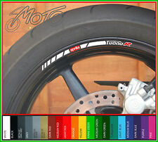 8 x APRILIA TUONO R Wheel Rim Stickers Decals - Many Colours - factory r (o)