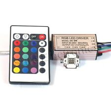10W RGB High Power LED Light Lamp Panel w 10W High Power RGB LED Driver AC90-265