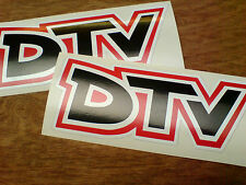 Dtv Distribuidor Equipo Vintage Clásico Rally Motorsport Stickers Calcomanías 2 De 150 Mm