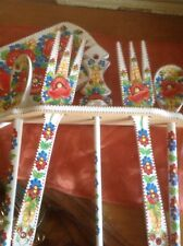 HAND PAINTED WOODEN KITCHEN SPOONS FORK SET