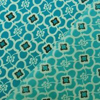 """Blue Designer Cotton Material 44"""" Wd Indian Fabric Craft Sewing By The Metre"""