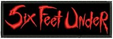SIX FEET UNDER EMBROIDERED PATCH DEATH Metal Negro