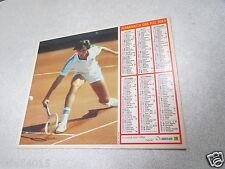 ALMANACH PTT calendrier des postes 1983 oberthur tennis la victoire  *