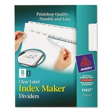 Avery Index Maker Clear Label Dividers With White Tabs - 11417