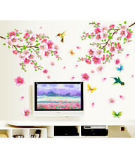 Wall Stickers Flowers TV Background Branch LED LCD Living Area Decoration PVC