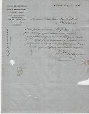 FORGES DE BASSE INDRE FONDERIES MARINE NAVIGATION  INDRE & NANTES 1866