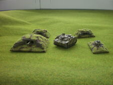 Scratchbuilt painted four bunkers 15 mm Flames of war