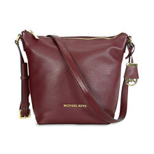 Michael Kors Bedford Leather Messenger Bag - Merlot