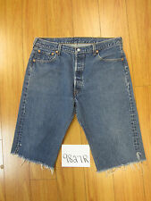 "Levi used 501 high waisted cut off shorts USATag 38"" Meas 35"" Inseam 15"" 9827R"