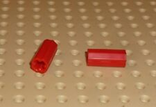 LEGO - TECHNIC - Axle Connector Smooth with 'x' Hole RED x 2 (6538c) TK442